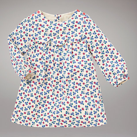 Buy John Lewis Baby Floral Corduroy Dress, Multi Online at johnlewis.com