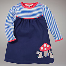 Buy John Lewis Baby Rabbit Stripe Dress, Navy Online at johnlewis.com