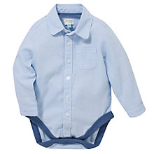 Buy John Lewis Long Sleeve Oxford Bodyshirt, Blue Online at johnlewis.com