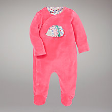 Buy John Lewis Baby Hedgehog Sleepsuit, Pink Online at johnlewis.com