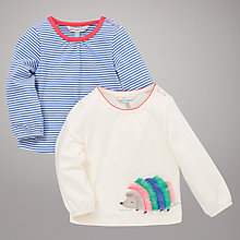 Buy John Lewis Baby Hedgehog and Stripe Tops, Pack of 2, Multi Online at johnlewis.com