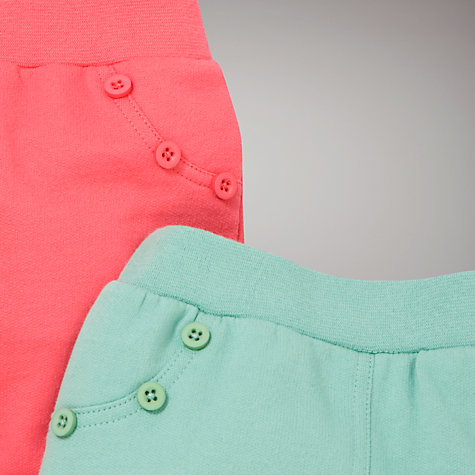 Buy John Lewis Baby Jersey Bottoms, Pack of 2, Green/Pink Online at johnlewis.com