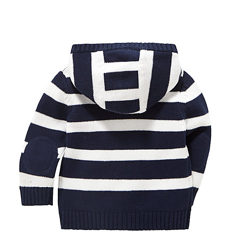 Buy John Lewis Striped Cardigan, Navy/White Online at johnlewis.com