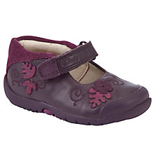 Buy Clarks Softly Mya Shoes, Purple Online at johnlewis.com