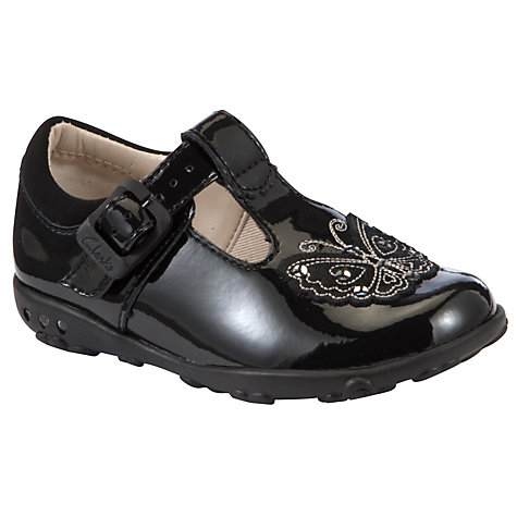 Buy Clarks Ella Sweet Shoes, Black Patent Online at johnlewis.com