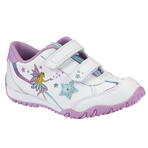 Buy Clarks Mosey Game Trainers, White/Purple Online at johnlewis.com