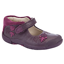 Buy Clarks Binnie Bug Shoes, Purple Online at johnlewis.com