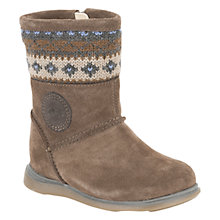 Buy Clarks Snuggle Hug Boots, Mushroom Online at johnlewis.com