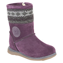Buy Clarks Snuggle Hug Boots, Purple Online at johnlewis.com
