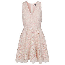 Buy French Connection Lace Dress, Daisy White Lace/Powder Online at johnlewis.com