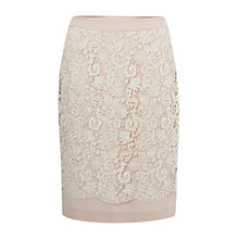 Buy French Connection Loving Crochet Pencil Skirt, Daisy White Online at johnlewis.com
