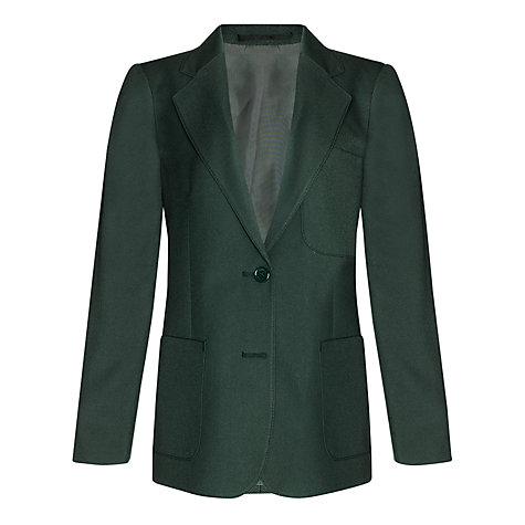 Buy John Lewis Girls' School Eco Blazer, Bottle Green Online at johnlewis.com