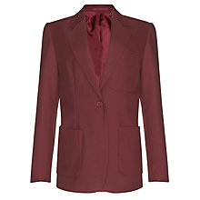 Buy John Lewis Girls' School Eco Blazer, Maroon Online at johnlewis.com