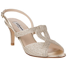 Buy L.K. Bennett Losari Rope Lurex Slingback Sandals Online at johnlewis.com