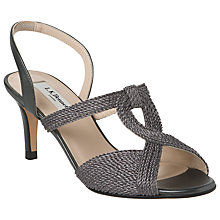 Buy L.K. Bennett Losari Rope Lurex Slingback Sandals, Pewter Online at johnlewis.com