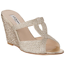 Buy L.K. Bennett Tahiti Metallic Rope Effect Wedge Sandals, Gold Online at johnlewis.com