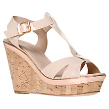 Buy Carvela Kab T-Bar Cork Wedge Heel Sandals Online at johnlewis.com