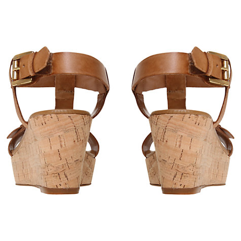 Buy Carvela Kast Leather Cork Platform Sandals Online at johnlewis.com