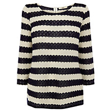Buy Oasis Cut and Sew Crochet Top, Navy Online at johnlewis.com