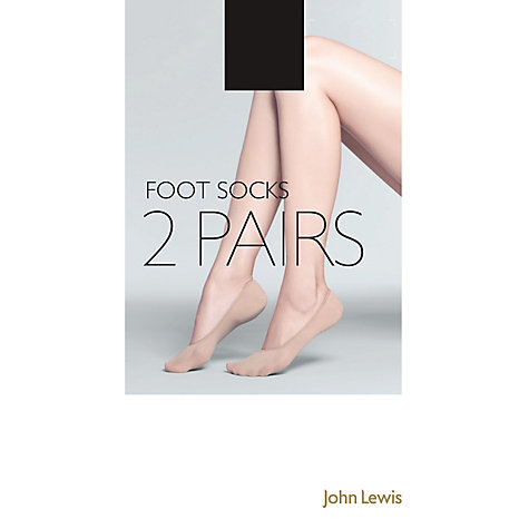 Buy John Lewis Cotton Mix Foot Socks, Pack of 2 Online at johnlewis.com