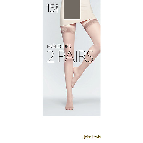 Buy John Lewis 15 Denier Hold-Up Tights, Pack Of 2 Online at johnlewis.com