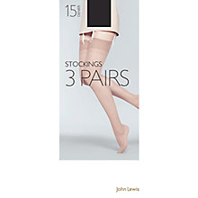 Buy John Lewis 15 Denier Sheer Stocking Tights, Pack Of 3, Black Online at johnlewis.com