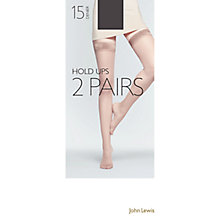 Buy John Lewis 15 Denier Sheer Stocking Tights, Pack Of 3, Nearly Black Online at johnlewis.com
