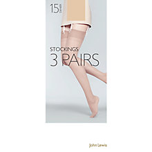 Buy John Lewis 15 Denier Sheer Stockings, Pack Of 3 Online at johnlewis.com