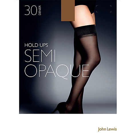 Buy John Lewis 30 Denier Semi Opaque Hold-Ups Online at johnlewis.com