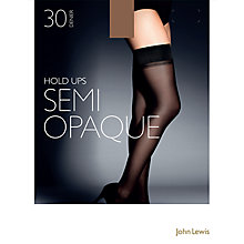 Buy John Lewis 30 Denier Semi Opaque Hold-Ups, Nude Online at johnlewis.com