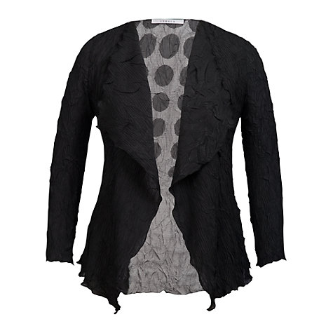 Buy Chesca Spot Print Shrug, Black Online at johnlewis.com