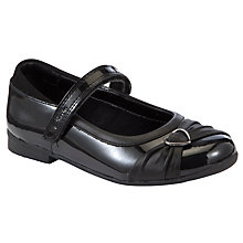Buy Clarks Girls' Dolly Heart Leather Shoes, Black Patent Online at johnlewis.com