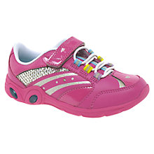 Buy Clarks Mitzy Skip Trainers, Pink Online at johnlewis.com