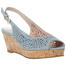 Buy Bertie Grazer Laser Cut Cork Wedge Slingback Sandals Online at johnlewis.com