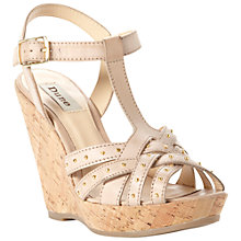 Buy Dune Gerri Leather Sandals, Natural Online at johnlewis.com