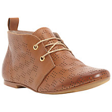 Buy Bertie Lisanta Leather Laser Cut Out Desert Boots, Tan Online at johnlewis.com