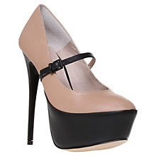 Buy KG by Kurt Geiger Dream Leather Stiletto Heel Court Shoes Online at johnlewis.com