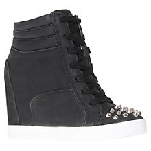Buy KG by Kurt Geiger Lydia Wedged Trainers, Black Online at johnlewis.com
