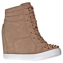 Buy KG by Kurt Geiger Lydia Wedged Trainers, Taupe Online at johnlewis.com