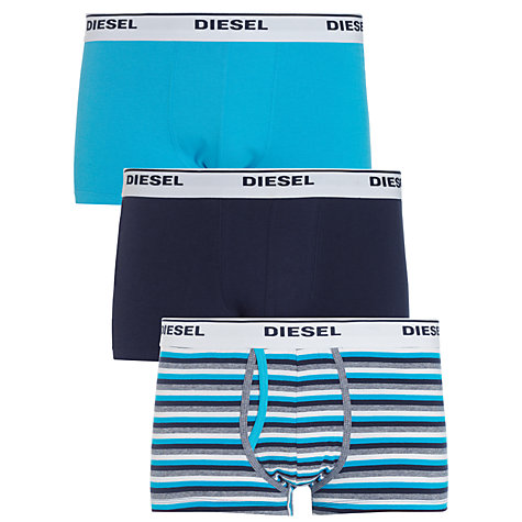 Buy Diesel Kory Plain and Stripe Trunks, Pack of 3 Online at johnlewis.com