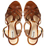Buy Dune Gerri Leather Sandals, Tan Online at johnlewis.com
