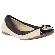 Buy Dune Marisa Leather Ballerina Shoe, Nude Online at johnlewis.com