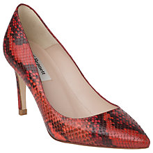Buy L. K. Bennett Florete Snake Print Leather Point Toe Court Shoes Online at johnlewis.com