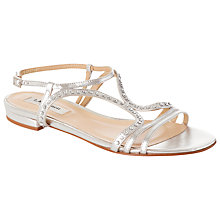 Buy L.K. Bennett Lexi Crystal Metallic Sandals Online at johnlewis.com