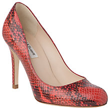 Buy L.K. Bennett Bury Court Shoes, Berry Snake Print Online at johnlewis.com