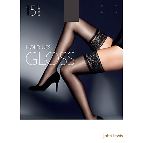 Buy John Lewis 15 Denier Gloss Stockings, Pack of 1, Nearly Black Online at johnlewis.com
