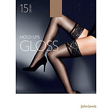 Buy John Lewis 15 Denier Gloss Stockings, Pack of 1, Natural Tan Online at johnlewis.com