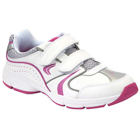 Buy Clarks Fluency Jet Trainers, White/Pink Online at johnlewis.com