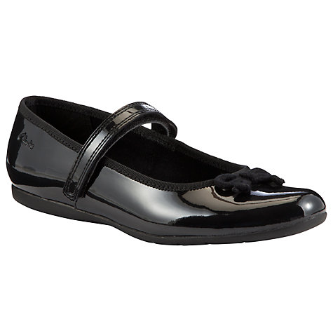 Buy Clarks Dance Tune Shoes, Black Patent Online at johnlewis.com