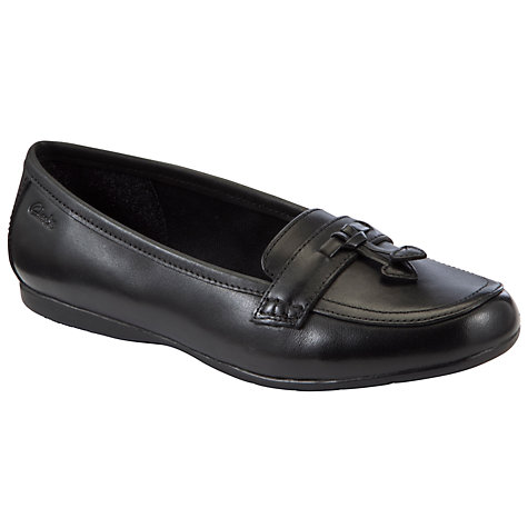 Buy Clarks Dance Skip Jnr Loafer Shoes, Black Online at johnlewis.com